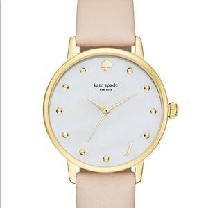 NIB Kate Spade Metro Monogram J Blush Pink Watch